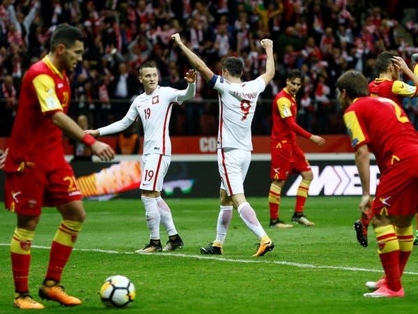 بولندا تتغلب على مونتنيغرو وتتأهل إلى كأس العالم
