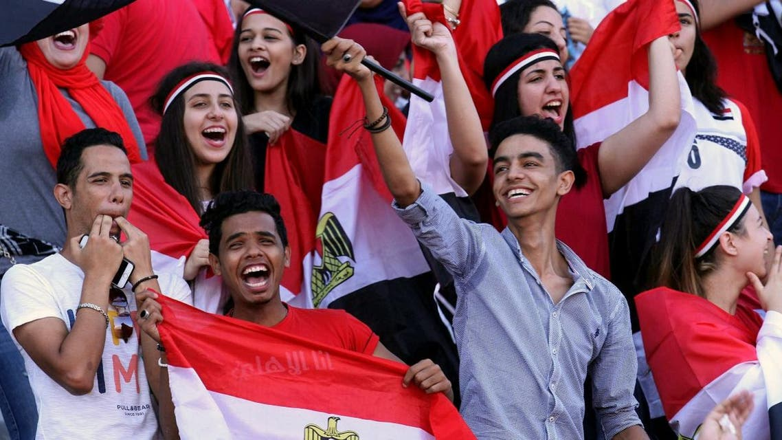 Supporters of Egypt attend the World Cup 2018 Africa qualifying football match between Egypt and Congo at the Borg al-Arab stadium in Alexandria on October 8, 2017. (AFP)