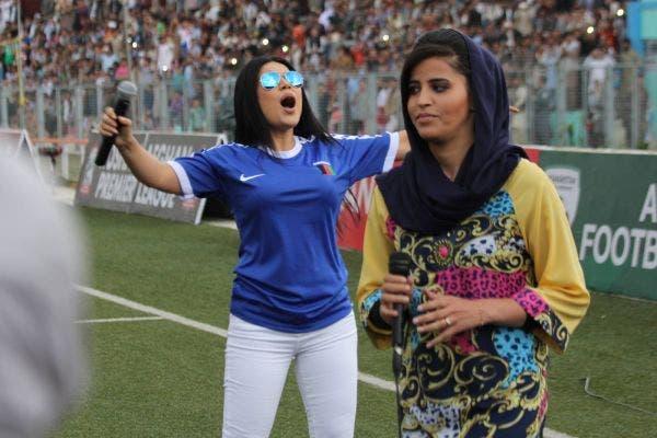 اجرای آریانا سعید آوازخوان افغانستان در مسابقات لیگ برتر این کشور