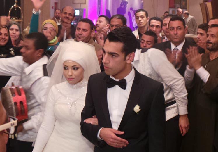 خلال حفل زفافه عام 2013