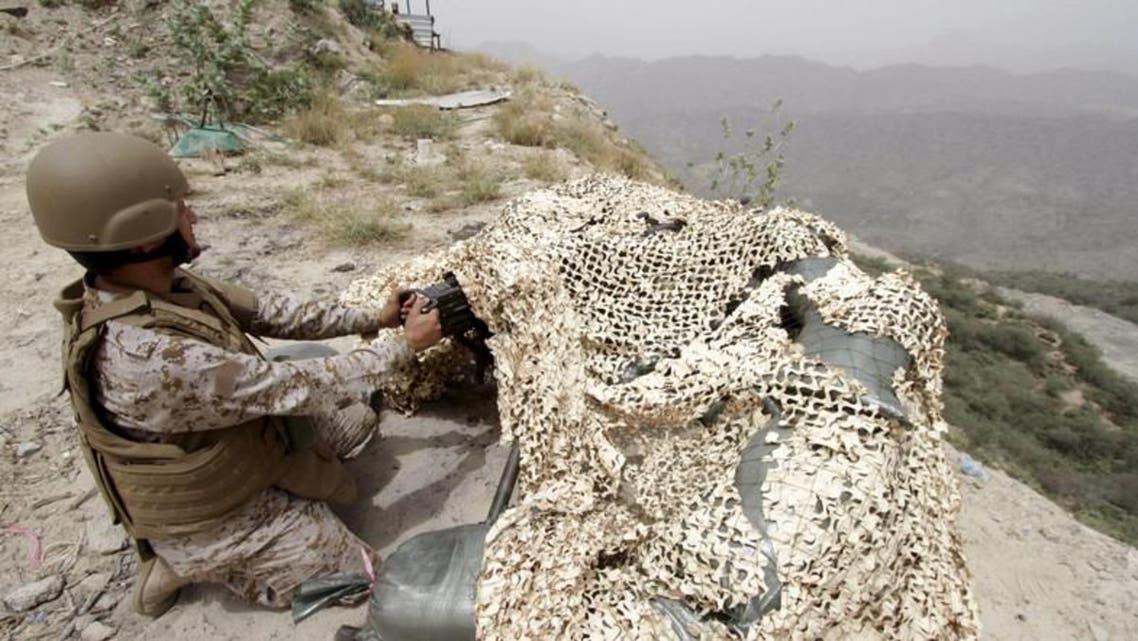 Saudi Soldier at border With Yemen