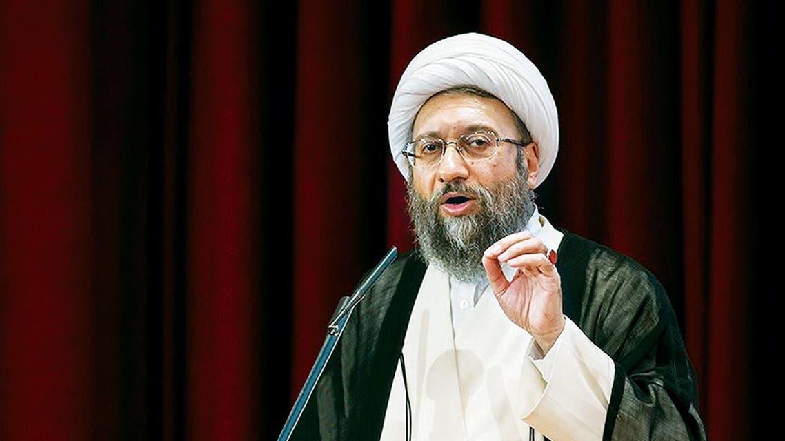 رئيس السلطة القضائية الايرانية، آية الله صادق آملي لاريجاني