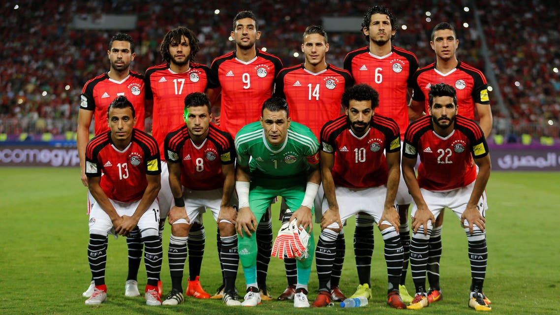 Soccer Football - 2018 World Cup Qualifications - Africa - Egypt vs Congo - Borg El Arab Stadium, Alexandria, Egypt - October 8, 2017  Egypt players pose for a team group photo REUTERS/Amr Abdallah Dalsh