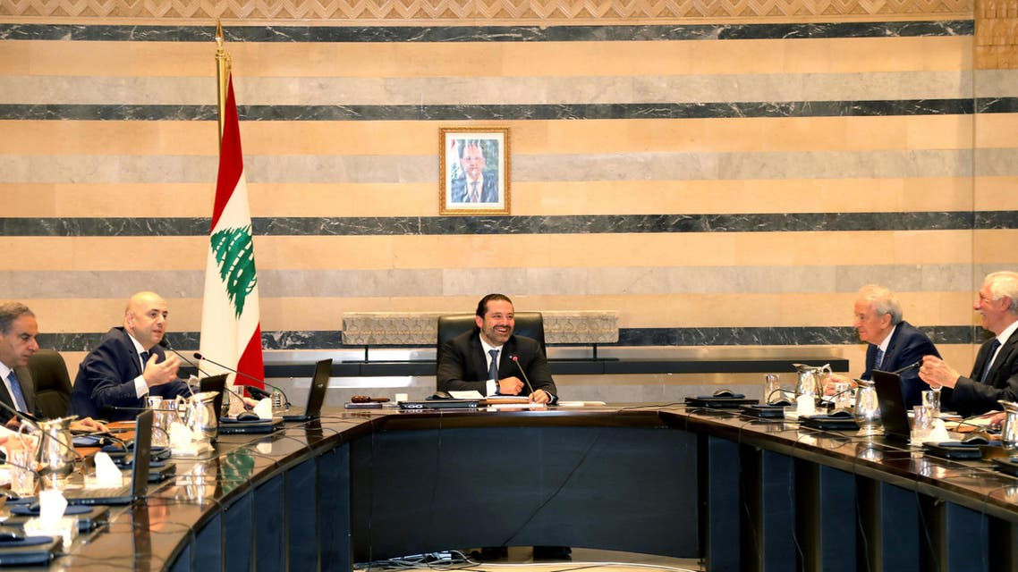Lebanon's Prime Minister Saad al-Hariri presides a cabinet meeting at the governmental palace in Beirut, Lebanon September 29, 2017. rueters