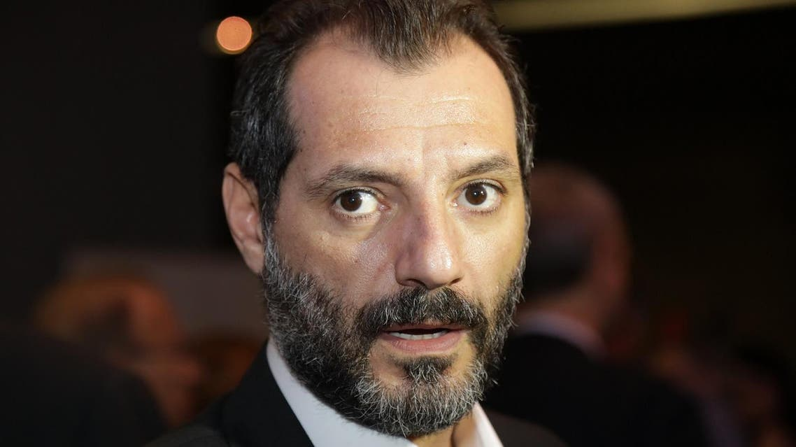 """Lebanese actor Adel Karam is seen at the pre-screening of film """"The Insult"""" in Beirut on September 12, 2017. AFP"""