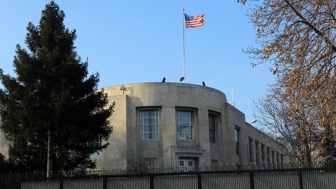(FILES) This file photo taken on December 20, 2016 shows the US Embassy in Ankara, closed for the day after a shooting incident overnight that followed the assassination of the Russian ambassador in the Turkish capital. Turkey on October 9, 2017 urged the United States to reverse a decision to halt the issuing of all regular visas at American consulates in the country, in a row that risks a major crisis. Ankara hit back at the US move -- sparked by the arrest of an Istanbul consulate staffer -- with a similar halt by Turkey's missions in the US. Analysts warned the dispute risked becoming the most serious row between the two NATO allies in decades. (AFP)