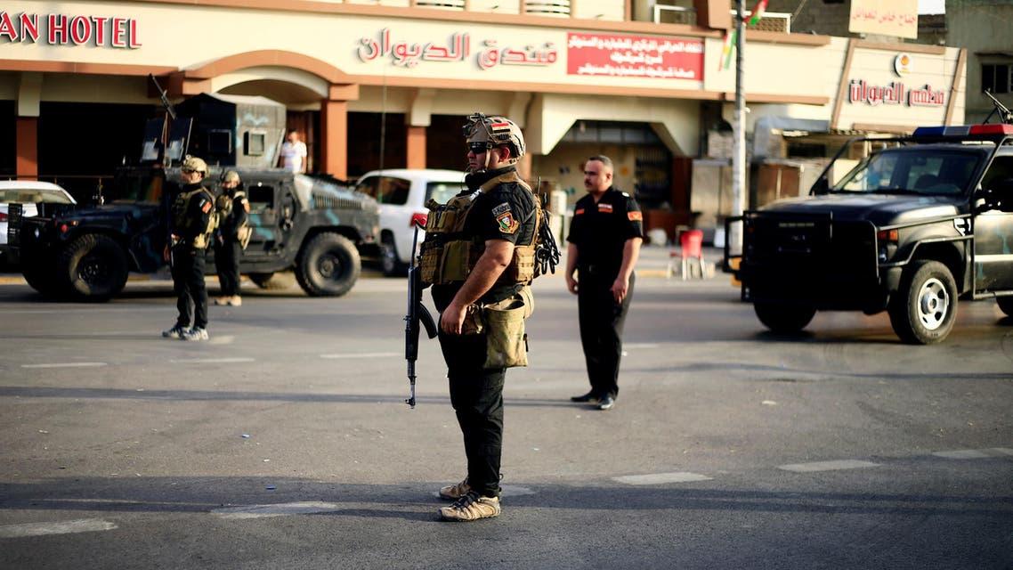 عناصر من القوات الأمنية الكردية في كركوك
