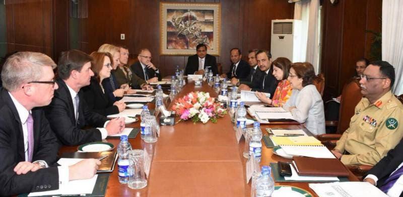 محادثات الوفد الأميركي مع المسؤولين الباكستانيين