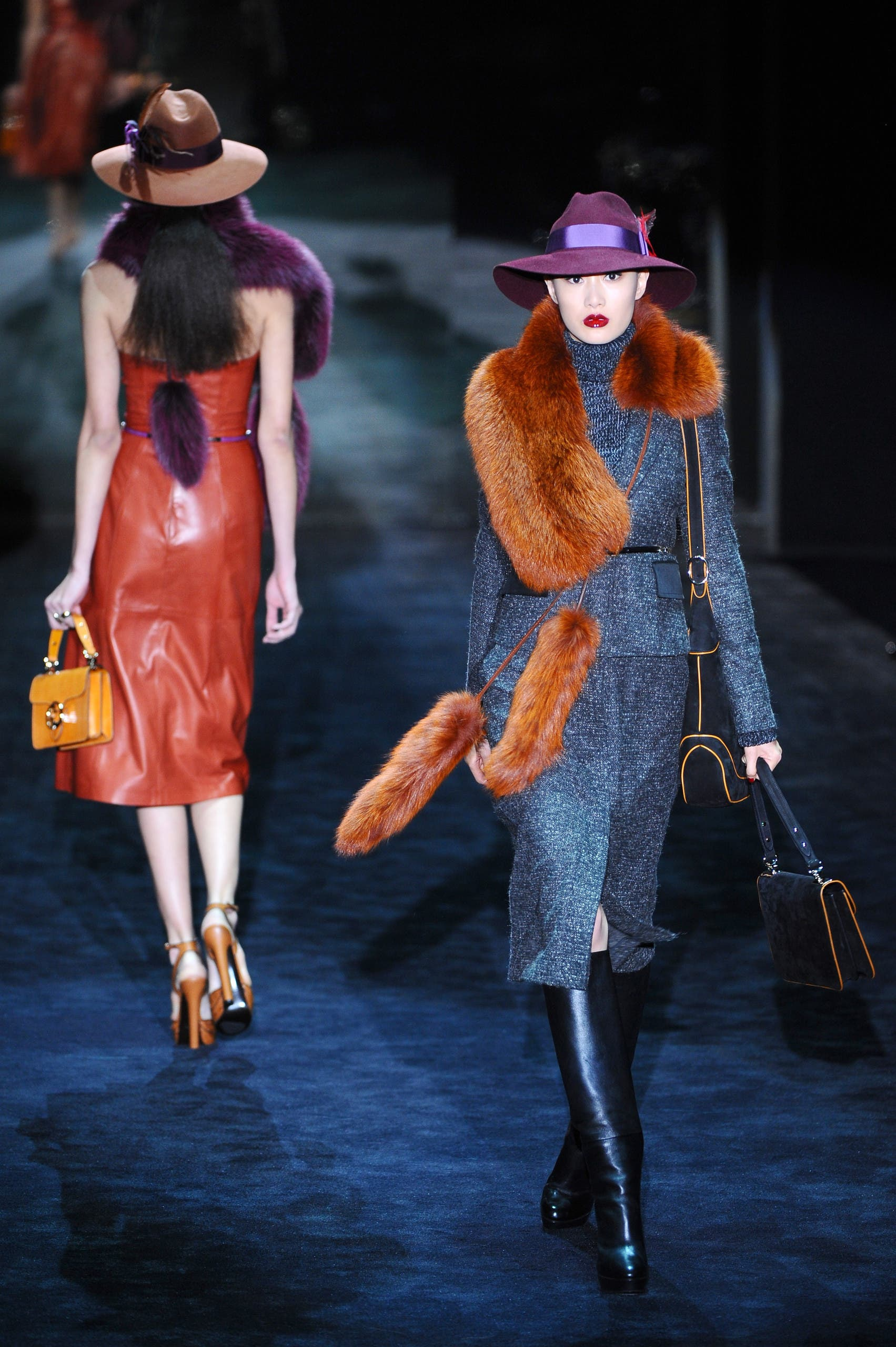 A model displays a creation as part of Gucci Fall-Winter 2011-2012 ready-to-wear collection on February 23, 2011 during the Women's fashion week in Milan. (File photo: AFP)