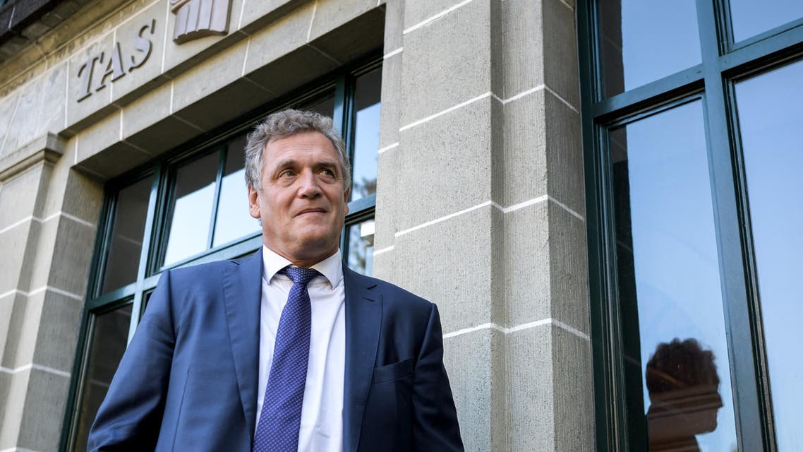 French former FIFA Secretary General Jerome Valcke looks on outside the Court of Arbitration for Sport prior to his appeal over his 10 year ban from football on October 11, 2017 in Lausanne. Fabrice COFFRINI / AFP