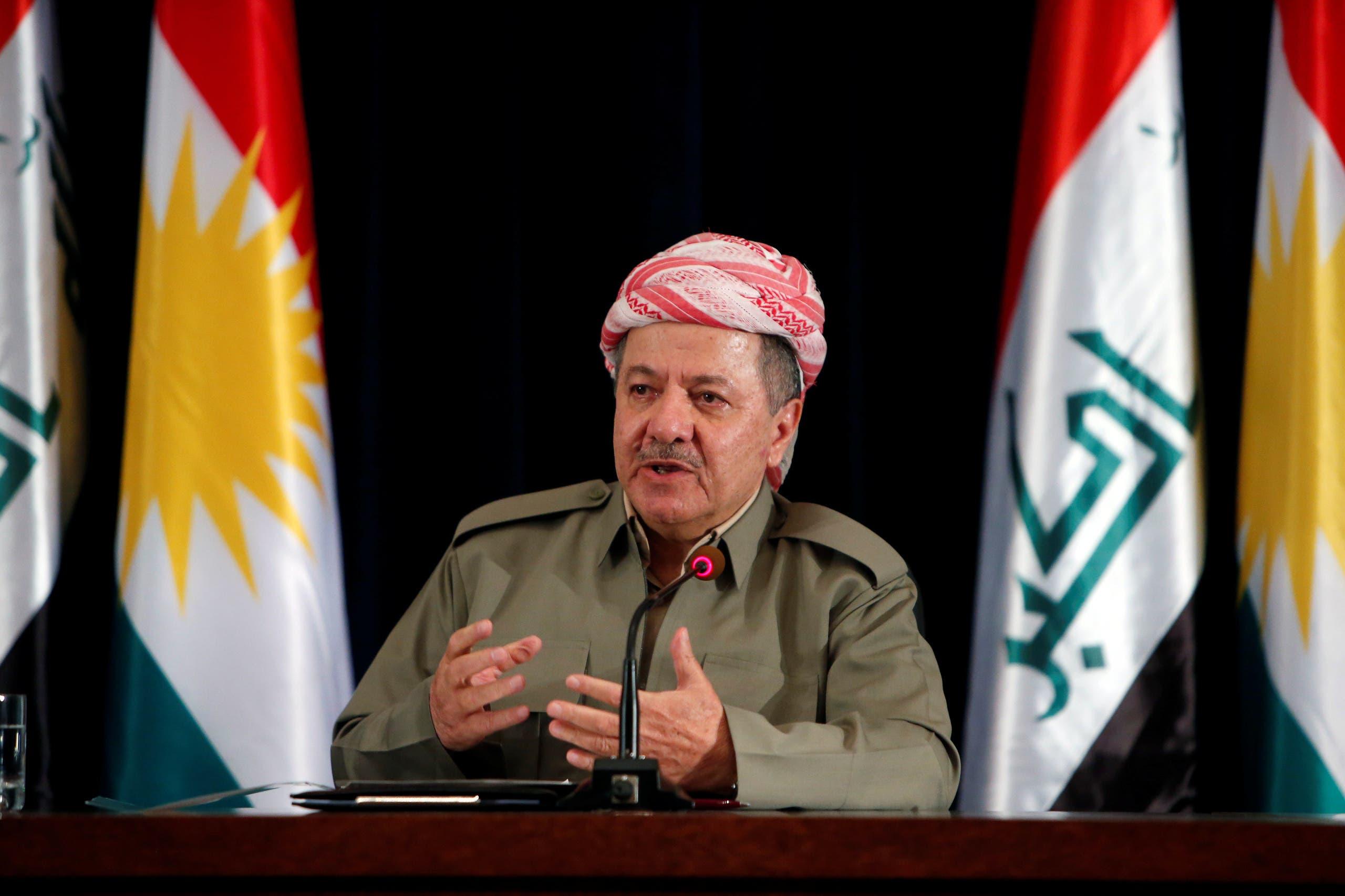 زعيم اقليم كردستان مسعود بارزاني