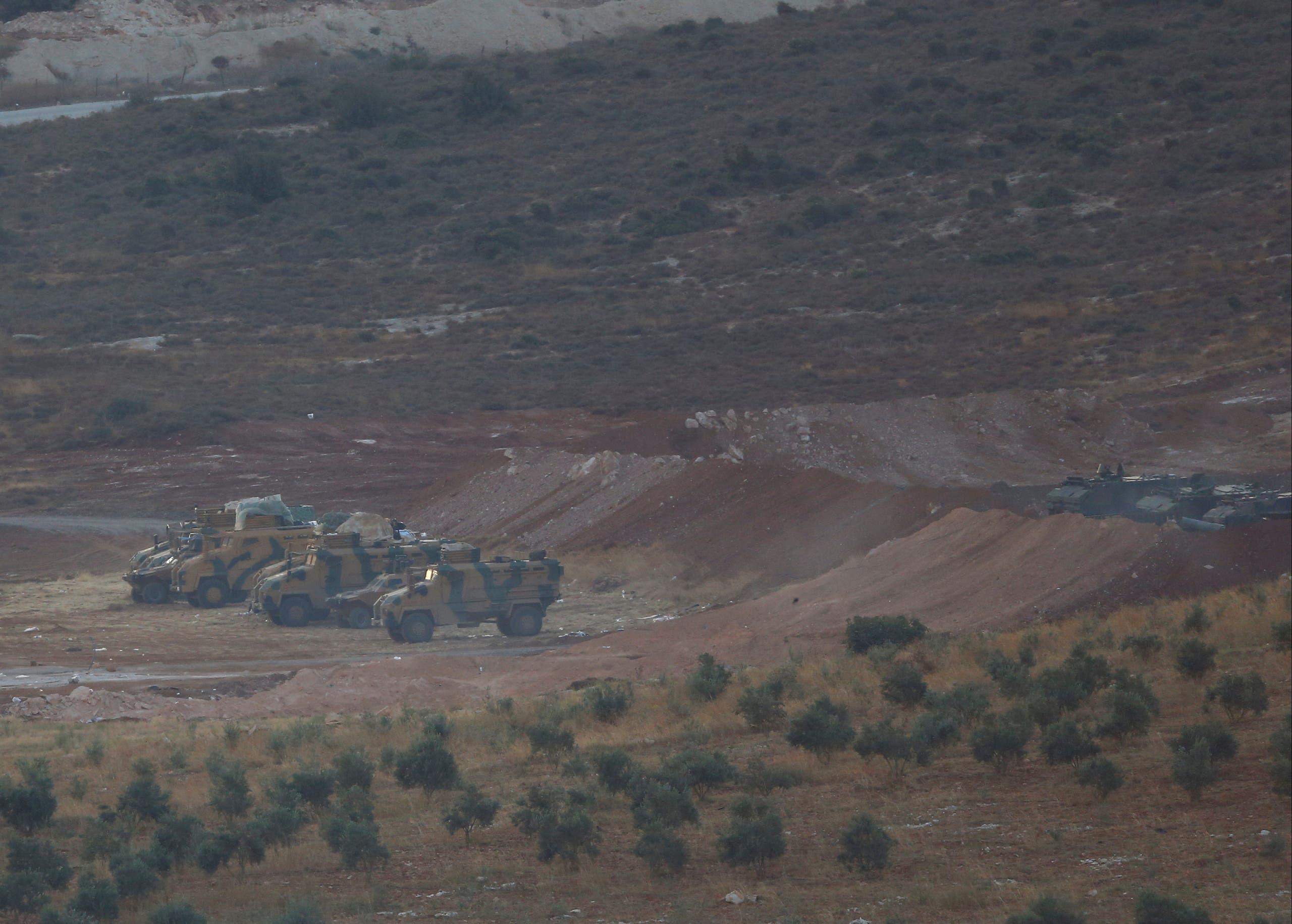 مركبات تركية على الحدود مع سوريا الجمعة