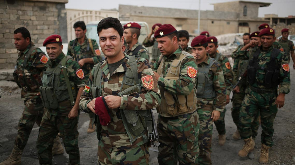 Peshmerga fighters arrive to vote near Kurdish frontlines during the Kurds' independence referendum in Sheikh Amir, Iraq, September 25, 2017. (Reuters)