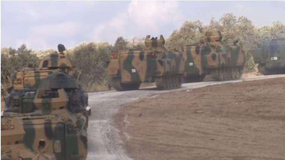 القوات التركية تدخل إدلب 3