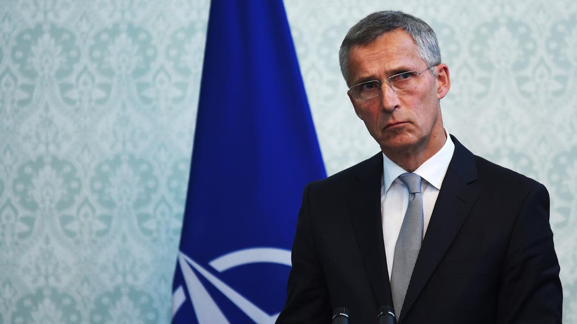 NATO chief Jens Stoltenberg looks on during a joint press conference with Afghan President Ashraf Ghani and US Defense Secretary Jim Mattis at the Presidential Palace in Kabul on September 27, 2017. US Defense Secretary Jim Mattis and NATO chief Jens Stoltenberg renewed their commitment to Afghanistan on September 27, as the Taliban launched a rocket attack that wounded five civilians in Kabul.  WAKIL KOHSAR / AFP