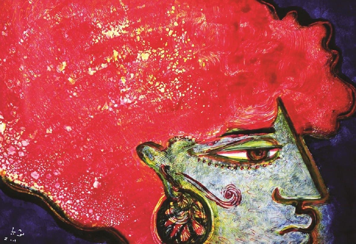 Moulin Rouge, 2001, (45 x 60 cm); Oil monoprint.