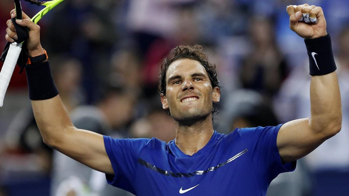 Rafael Nadal of Spain celebrates victory against Marin Cilic of Croatia at the Shanghai Masters on October 14, 2017. (Reuters)