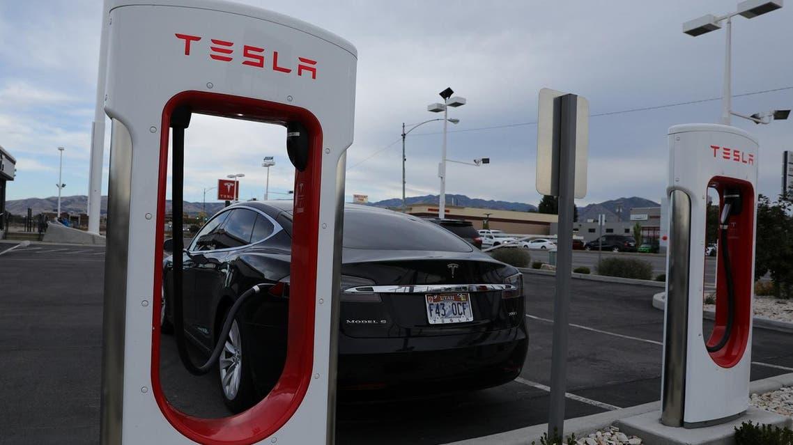A Tesla charging station is seen in Salt Lake City, Utah, US. (Reuters)