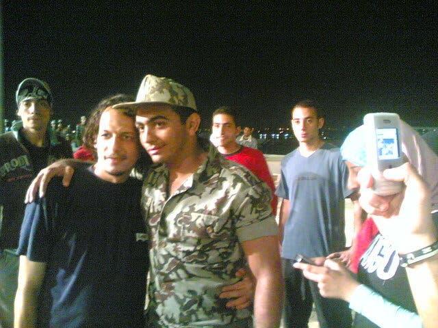 تامر حسني أثناء أداء الخدمة العسكرية