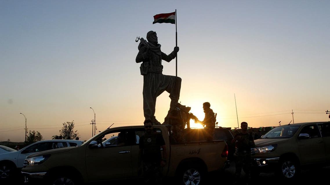 Newly unveiled statue in Kirkuk pays tribute to the Peshmerga, Iraqi Kurdistan's main fighting forces in Kirkuk, Iraq September 23, 2017. (Reuters)
