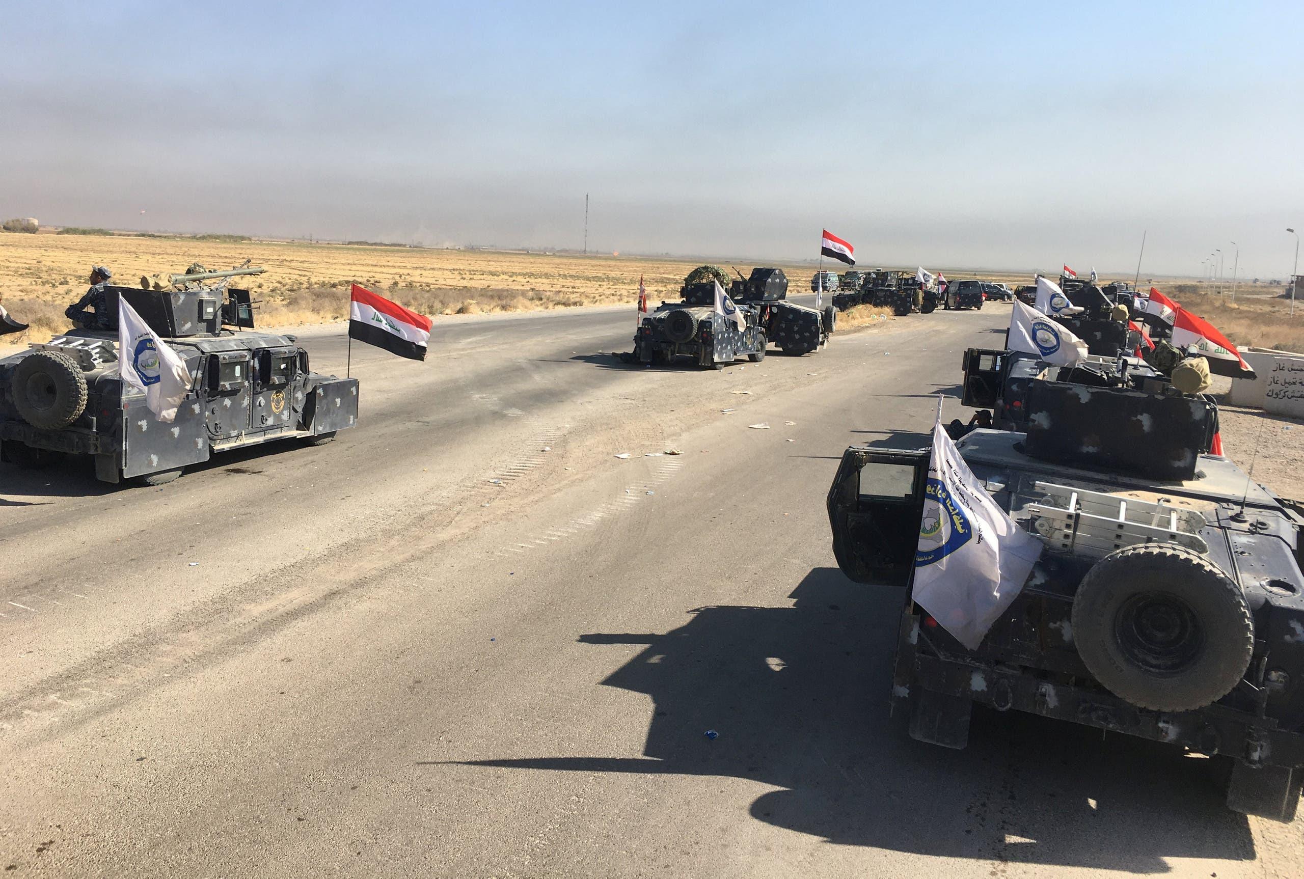 القوات العراقية تدخل جنوب كركوك
