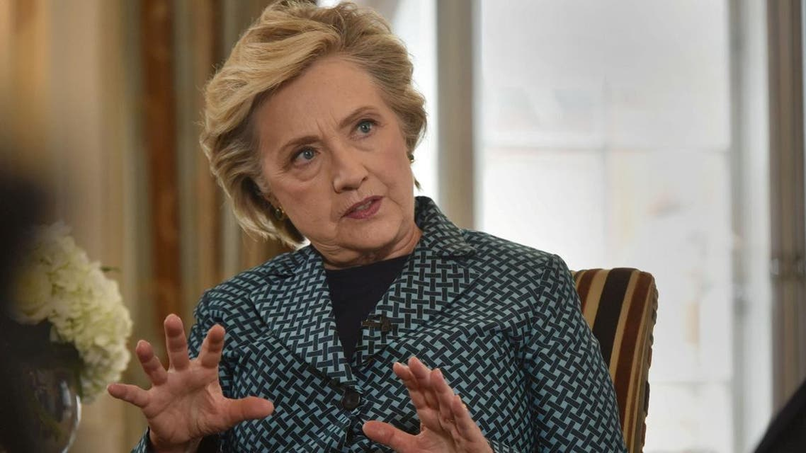 Former U.S. Secretary of State, Hillary Clinton, is seen speaking during an interview for the BBC's Andrew Marr Show in London. (Reuters)