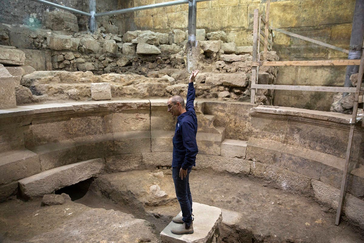 Israeli archaeologists have found the first known Roman-era theater in Jerusalem's Old City, a unique 1,800-year-old structure abutting the Western Wall. (AP)