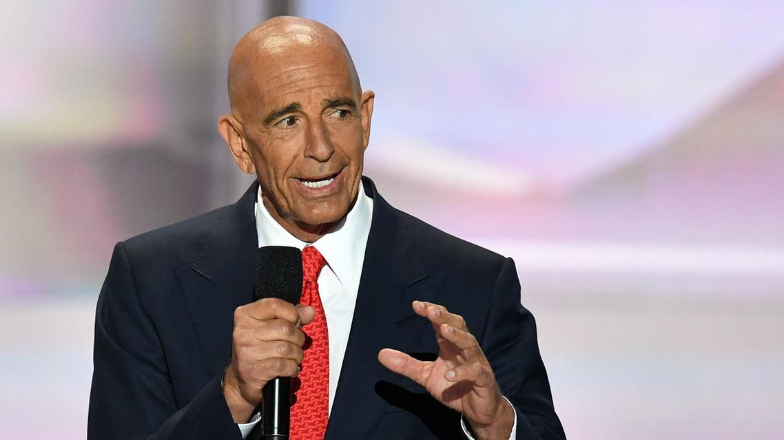 CEO of Colony Capital Tom Barrack speaks on the last day of the Republican National Convention on July 21, 2016, in Cleveland, Ohio.  JIM WATSON / AFP