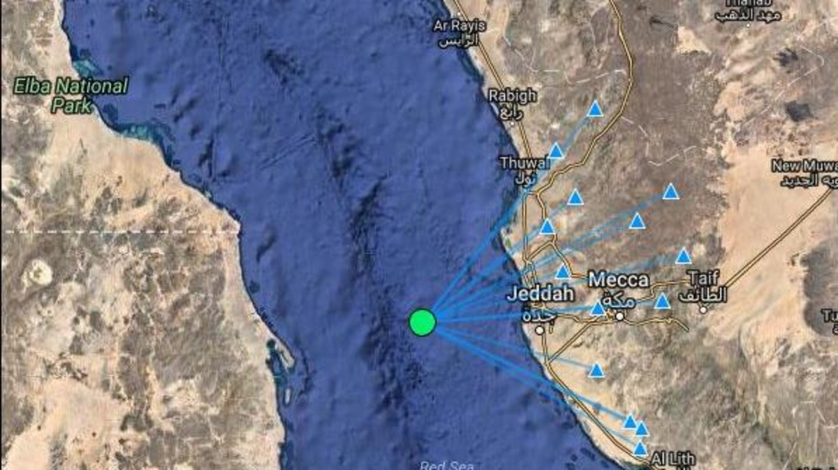 earthquake off jeddah aa