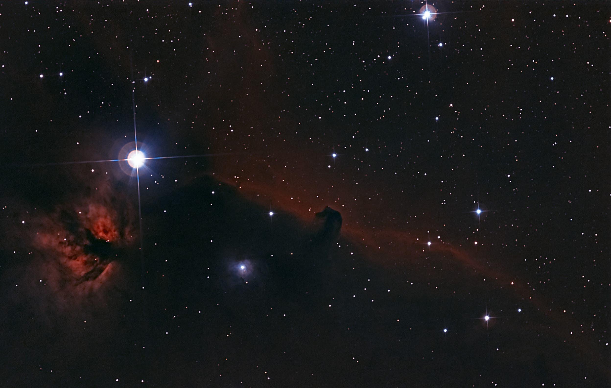 تصویر سحابی کله اسبی با استفاده از تلسکوپ و دوربین معمولی