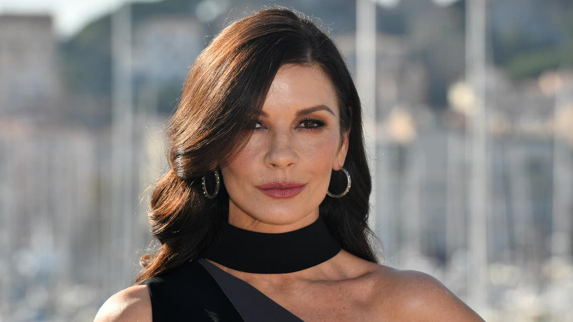 British actress Catherine Zeta-Jones for a photograph during the MIPCOM trade show (standing for International Market of Communications Programmes) in Cannes, southern France, on October 16, 2017. AFP