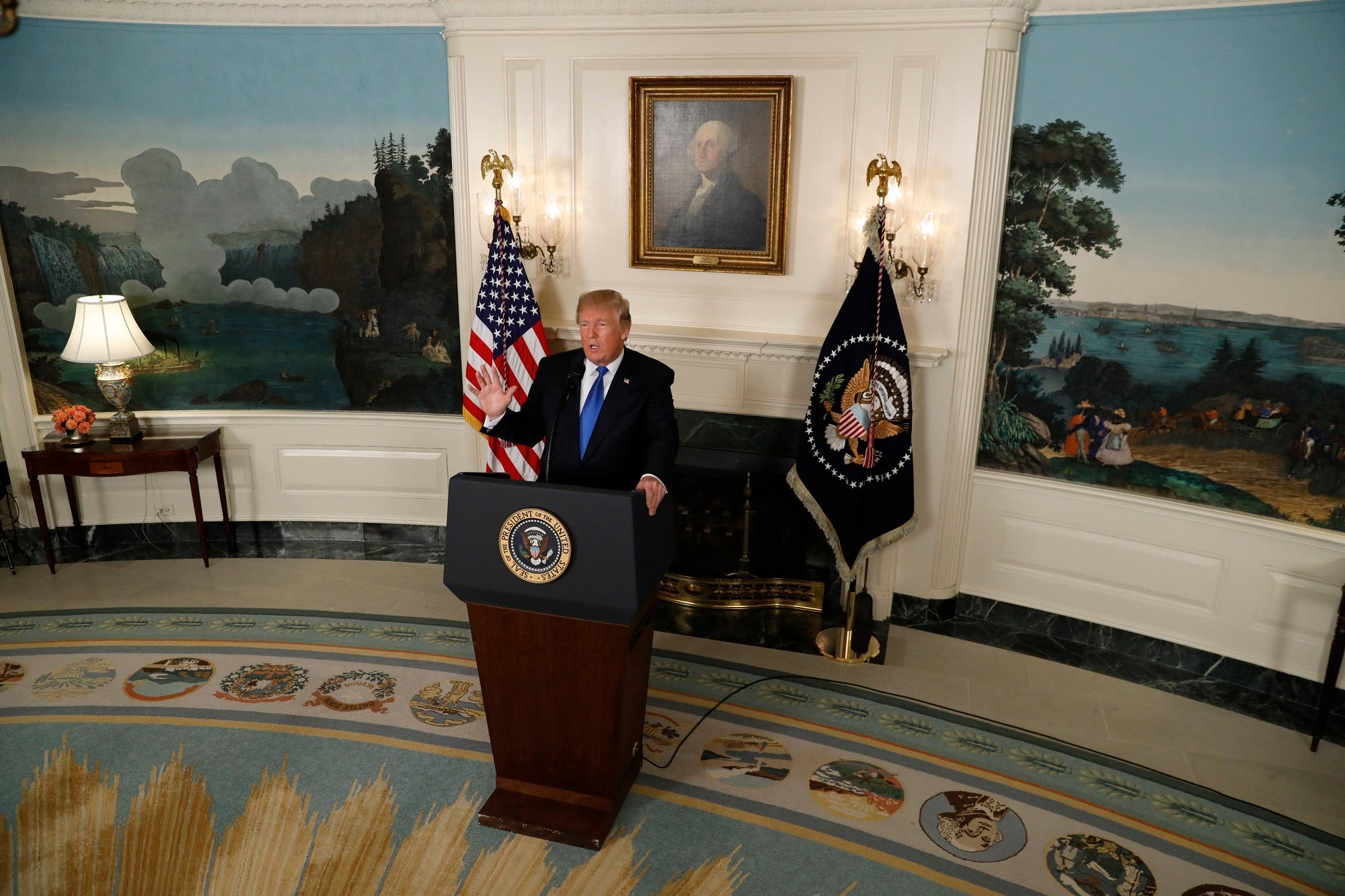 President Trump speaks about the Iran nuclear deal in the White House in Washington, on October 13, 2017. (Reuters)