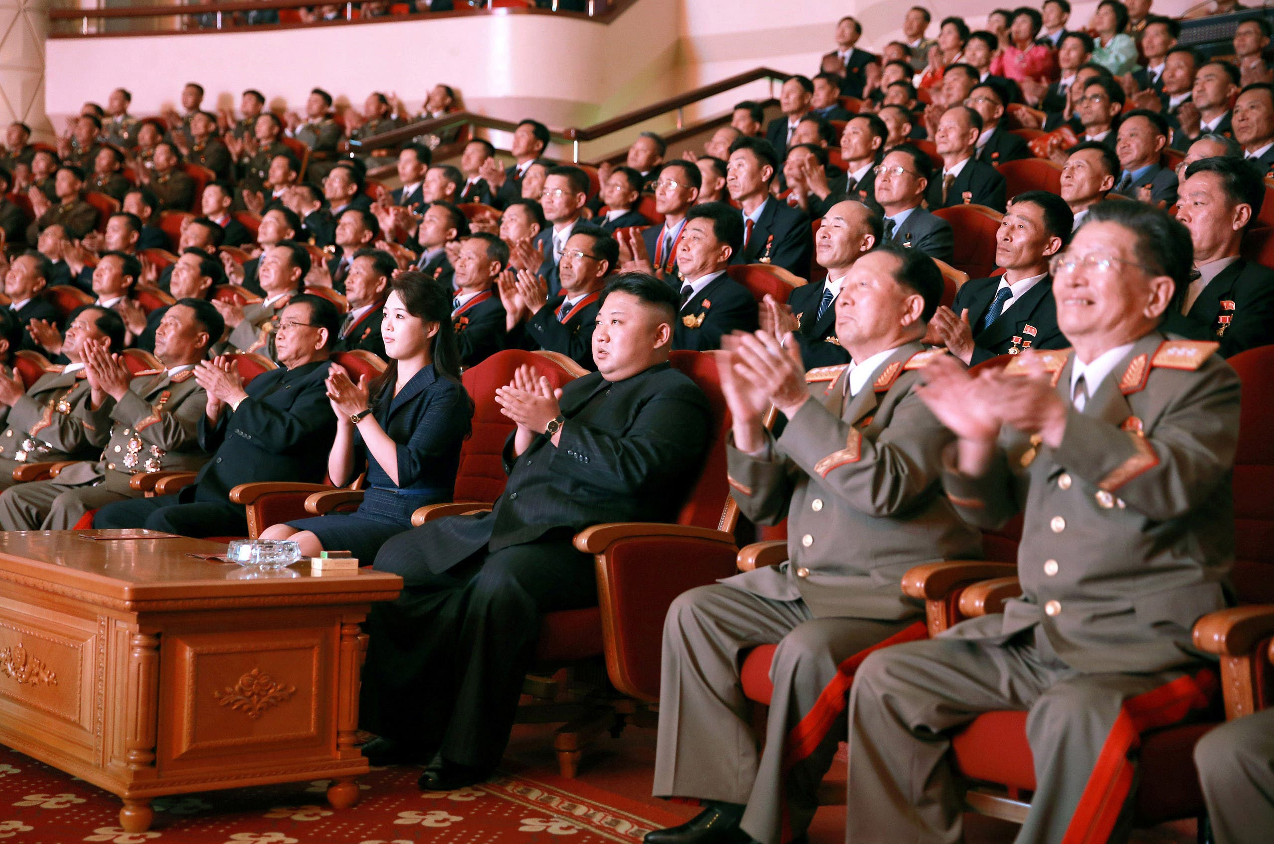 North Korean leader Kim Jong-Un during a celebration for nuclear scientists and engineers in this undated photo released by KCNA on September 10, 2017. (File photo: Reuters)