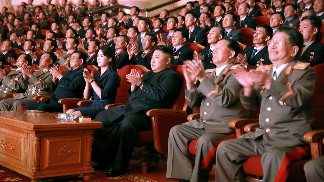 North Korean leader Kim Jong-Un during a celebration for nuclear scientists and engineers in this undated photo released by KCNA on September 10, 2017. (Reuters)