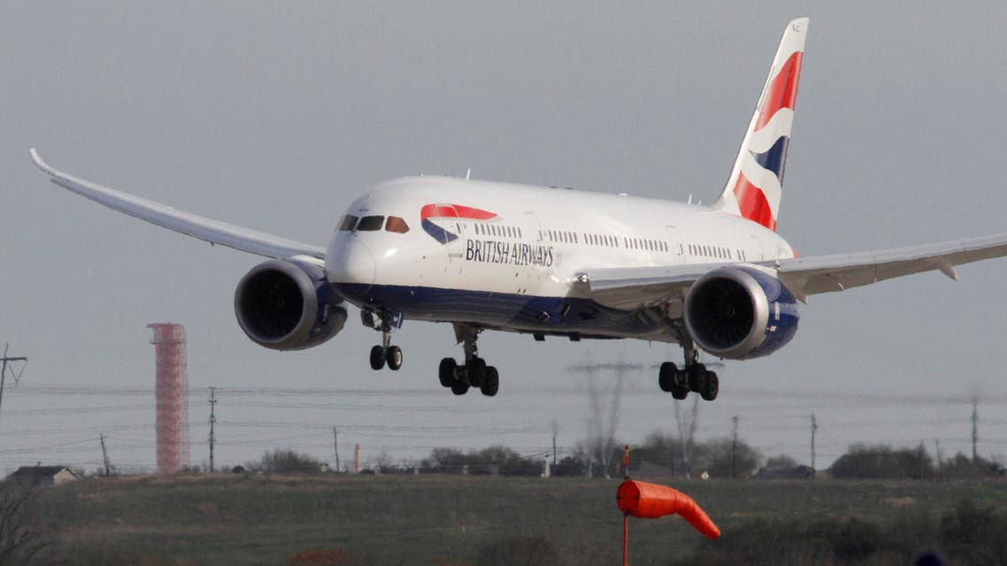 British Airways inaugural nonstop flight from London, England to Austin, Texas operated by a Boeing 787 Dreamliner, arrives at Austin Bergstrom International Airport on Monday, March 3, 2014. AP