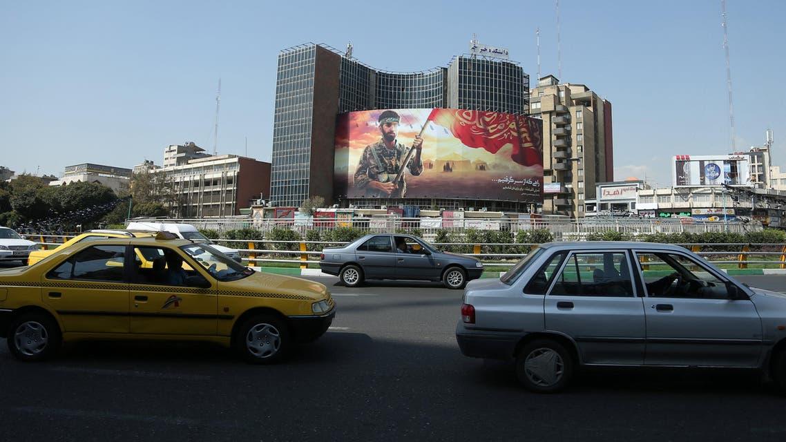 من أحد الميادين الشهيرة في العاصمة طهران