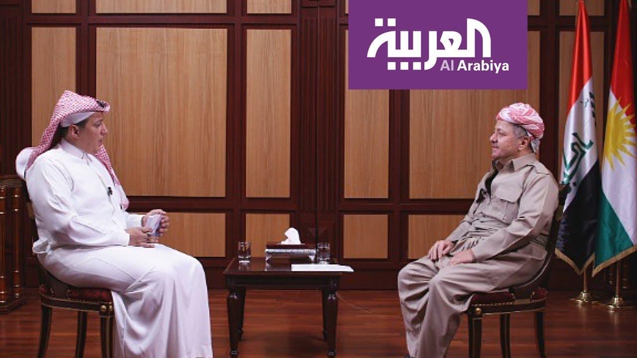 مسعود بارزاني في مقابلته مع تركي الدخيل