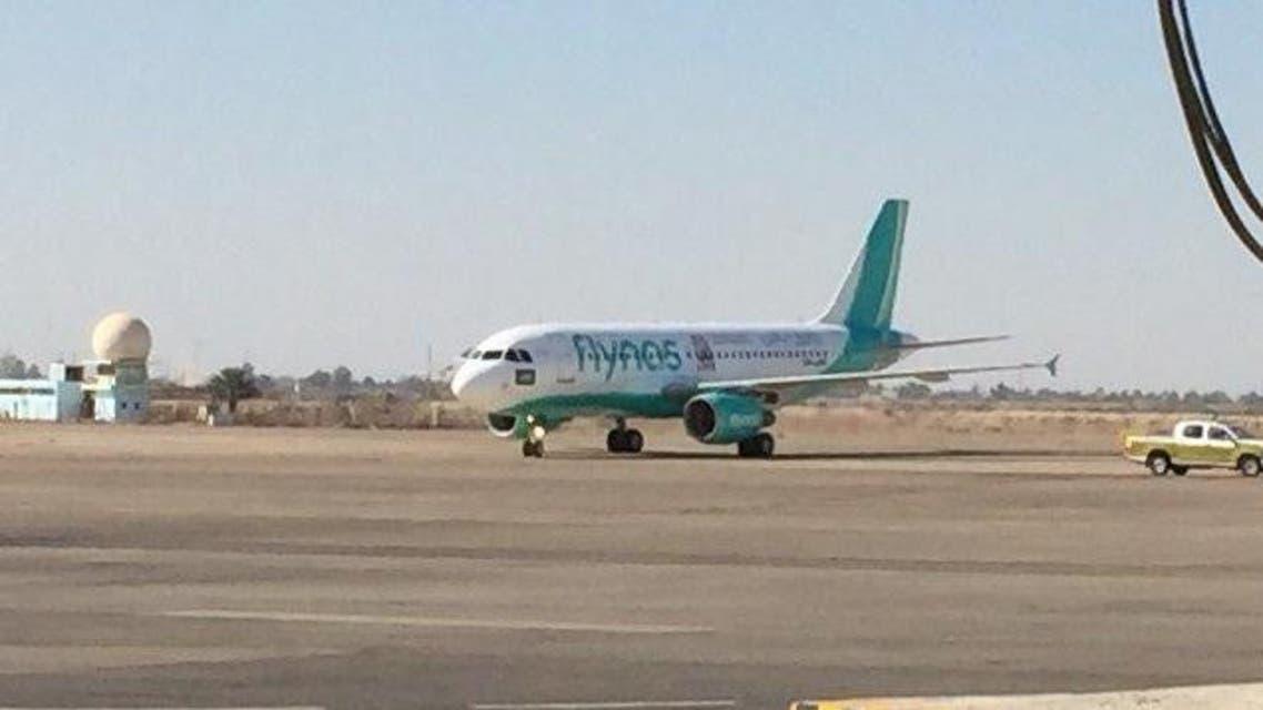 بعد 27 عاماً.. أول طائرة سعودية تحط في بغداد