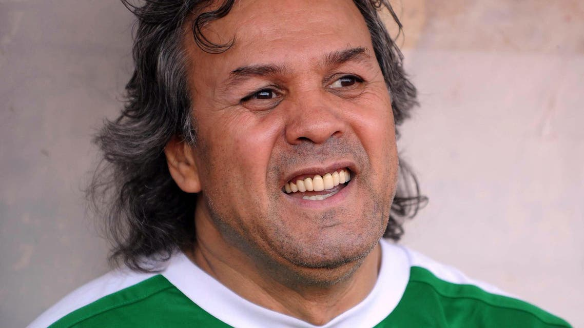 This file photo taken on April 23, 2012 shows former Algerian football star Rabah Madjer during a gala football match in Algiers. AFP