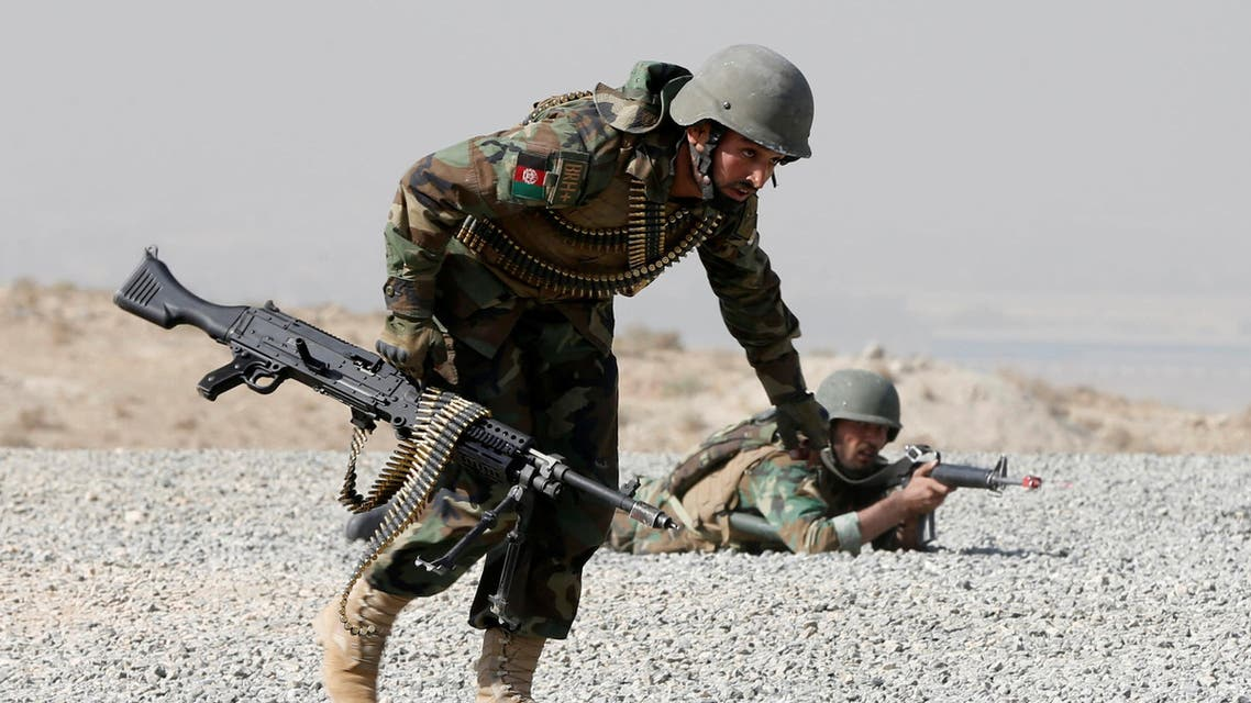 Afghan National Army (ANA) officers take part in a training exercise at the Kabul Military Training Centre (KMTC) in Kabul, Afghanistan October 17, 2017. reuters