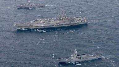 حاملة طائرات أميركية نووية تحذر كوريا الشمالية