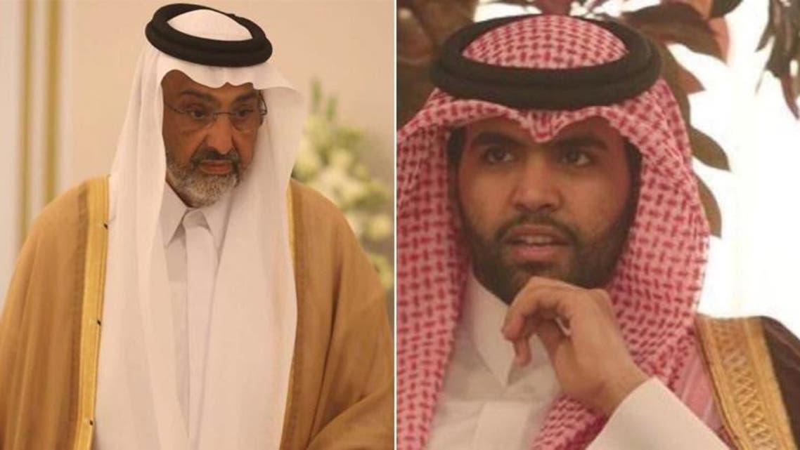 Sheikh Abdullah Bin Ali Al-Thani and Sheikh Sultan Bin Suhaim