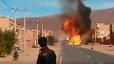 شاهد.. شاحنة غاز تصطدم بعمود كهربائي في المغرب