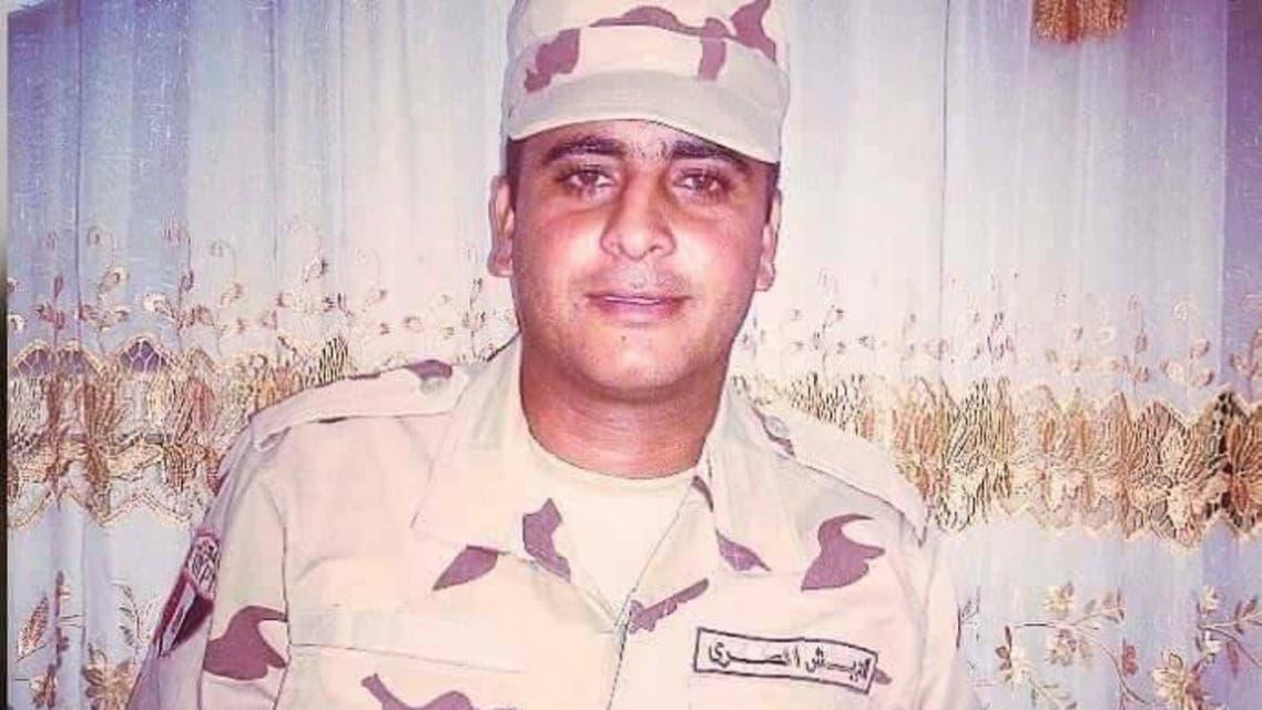 الجندي المصري إبراهيم كونشا لاعب منتخب مصر للشباب لكرة القدم
