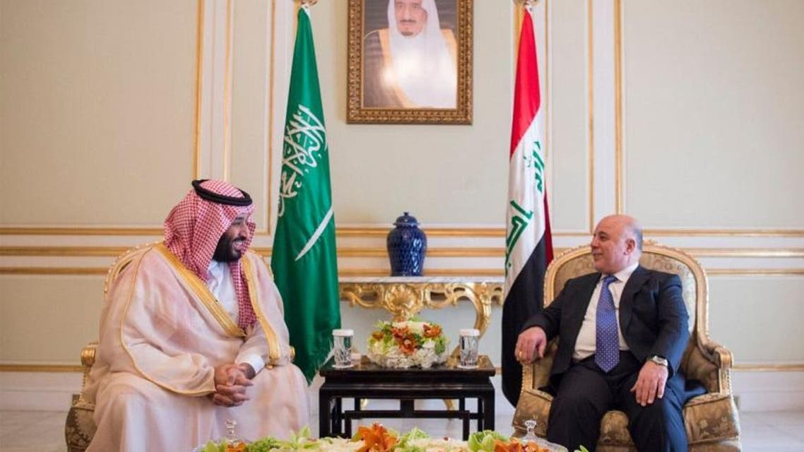 الأمير محمد بن سلمان و حيدر العبادي 3