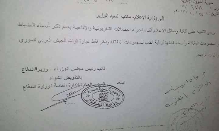 قرار بمنع ذكر أسماء وألقاب الضباط