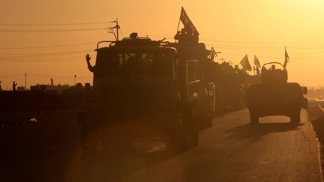 Iraqi security forces members advance in military vehicles in Kirkuk, Iraq October 17, 2017. REUTERS/Alaa Al-Marjani