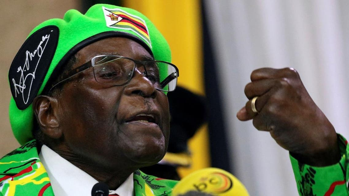 Zimbabwean President Robert Mugabe addresses a meeting of his ruling ZANU PF party's youth league in Harare, Zimbabwe. (Reuters)