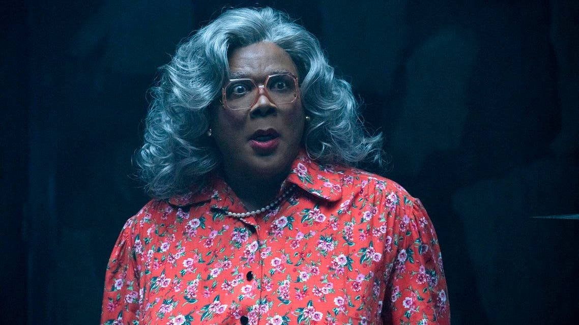 """This image released by Lionsgate Entertainment shows Tyler Perry as Madea in """"Tyler Perry's Boo! 2 A Madea Halloween."""" (Chip Bergman/Lionsgate Entertainment via AP)"""