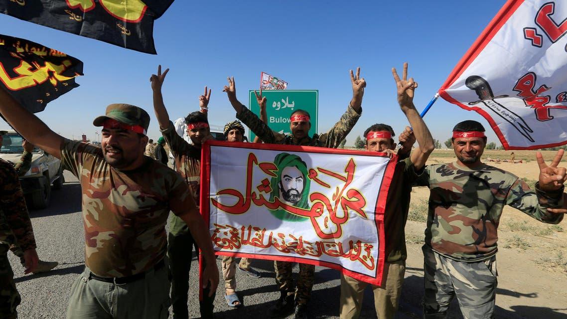 عناصر من الحشد الشعبي المدعوم من إيران في محيط كركوك